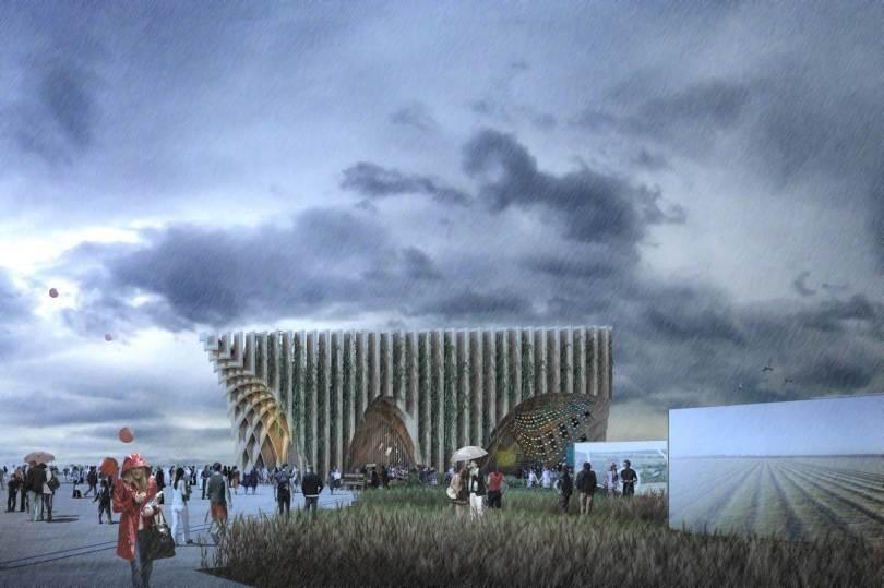الهيكل مصنوع بالكامل من الخشب