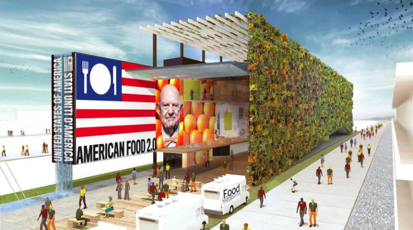 يهدف الجناح لعرض التطور الكبير للولايات المتحدة في مجال الصناعات الغذائية