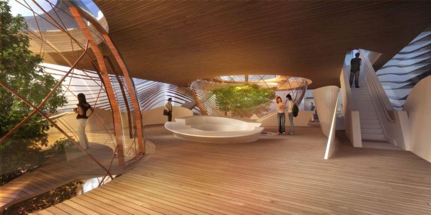 لقطة داخلية للجناح الأذربيجاني